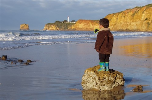 Aireys boy on rock