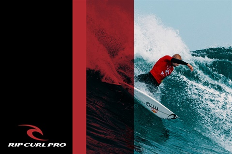 Surfing and Rip Curl Pro logo
