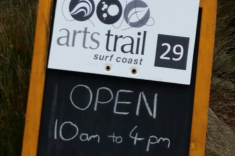 Sign outside Arts Trail venue