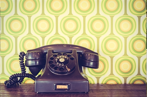 Retro telephone designed by Freepik