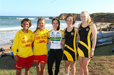 Surf lifesavers, cycler and netballers
