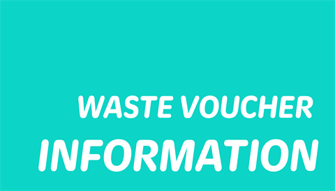 Text: waste voucher information